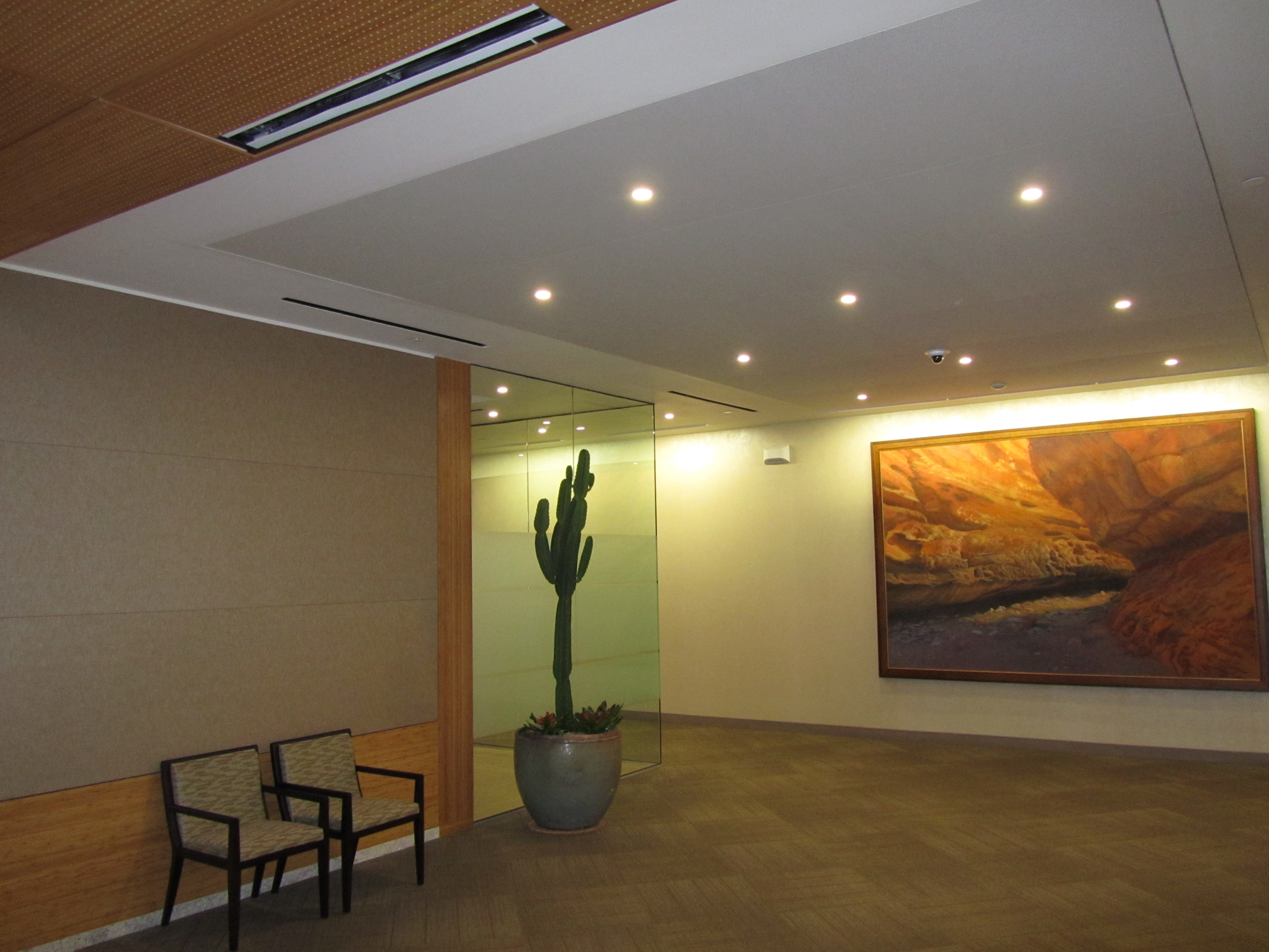 Floating ceiling tiles