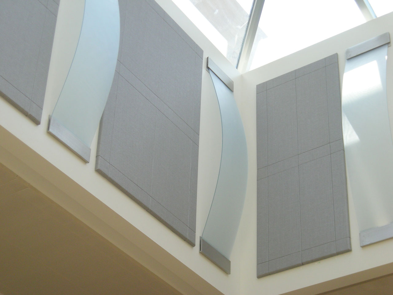 Suede Stretched Acoustical Panels With Bevel Detail