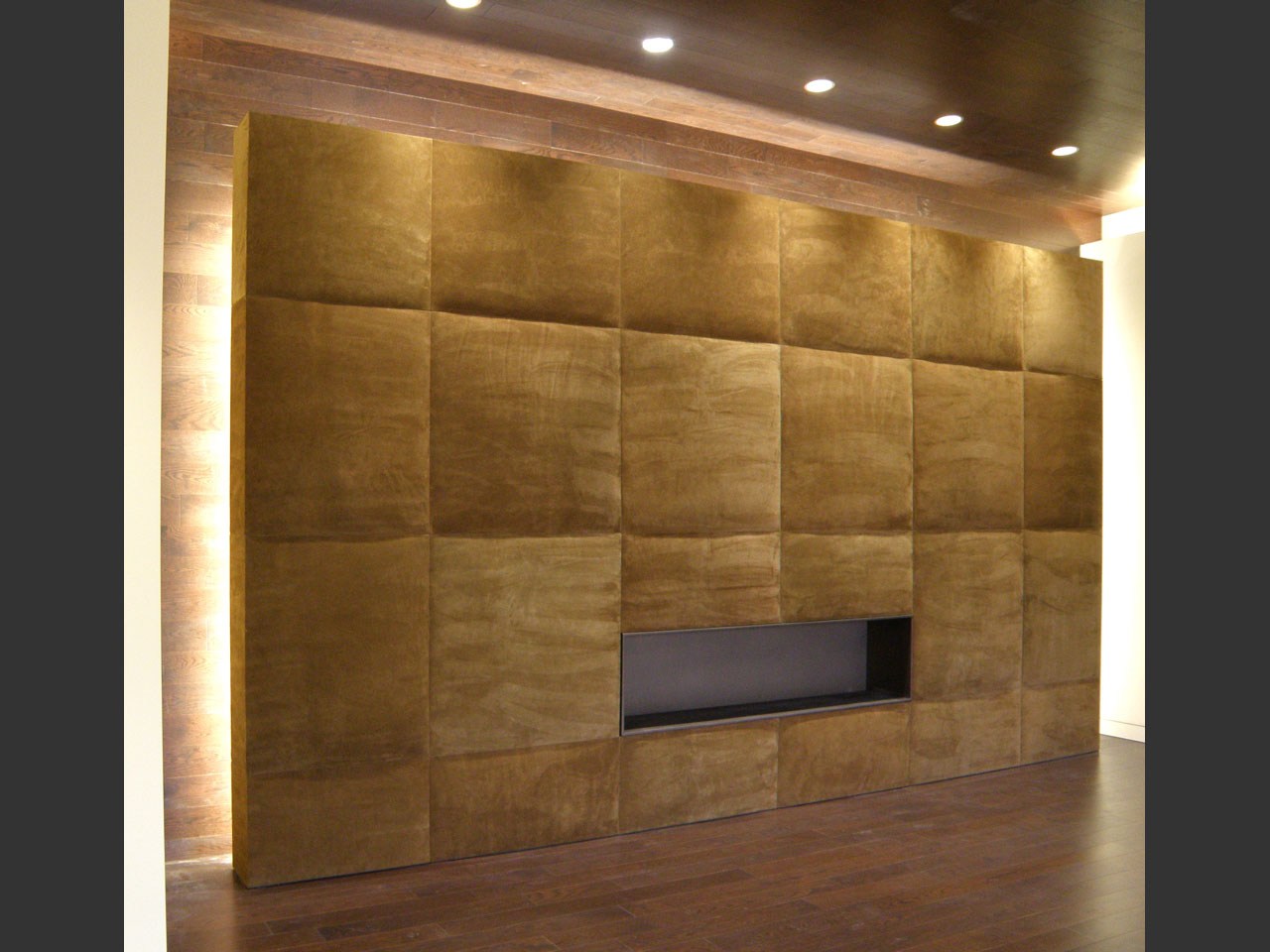 Suede Leather Quot Puffed Quot Fabri Trak Panels On Quot Floating